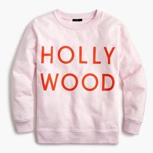 J Crew SMALL Hollywood Sweatshirt Pink Orange